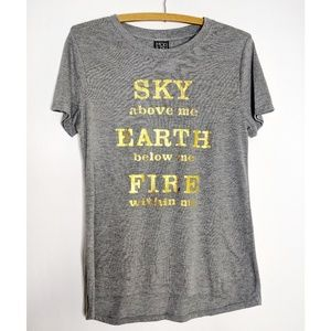 Modern Lux Hi Low Sky Above Me Shirt NWOT